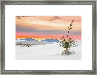 Sunset At White Sands National Monument Framed Print by Ellie Teramoto