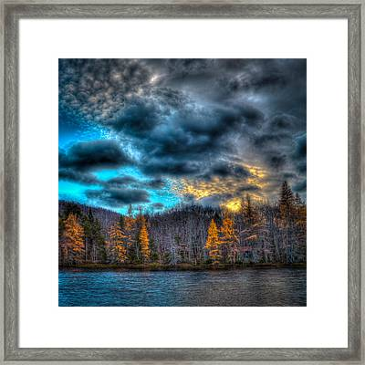 Sunset At Woodcraft Camp Framed Print by David Patterson