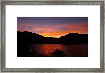 Sunset At Woodhead Campground  Framed Print by Joel Deutsch
