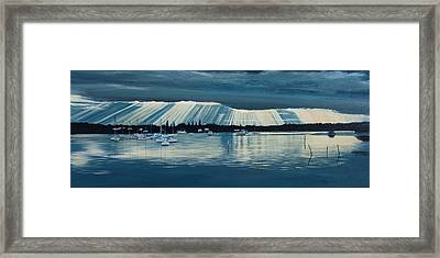 Sunset At Yamba Nsw Framed Print