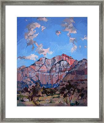 Sunset At Zion Framed Print by Erin Hanson