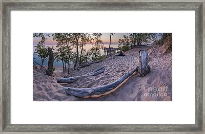 Sunset Atop The Bluff Framed Print