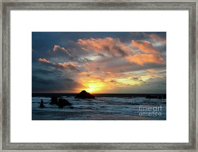 Sunset Bandon By The Sea Framed Print by Bob Christopher