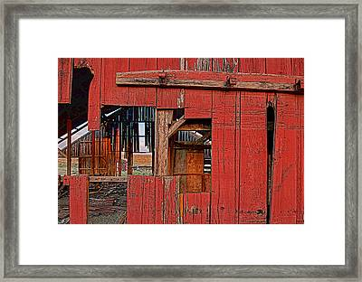 Sunset Barn Framed Print