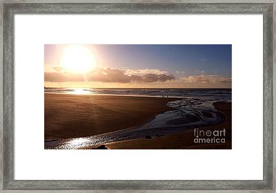 Sunset - Bastendorff Beach Framed Print