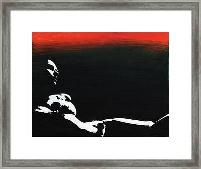 Sunset Bathing  Framed Print