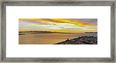 Sunset Bay Framed Print by Kelley King