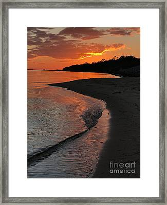 Sunset Bay Framed Print by Lori Mellen-Pagliaro