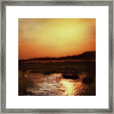 Sunset Bay  Framed Print by Paul Tokarski