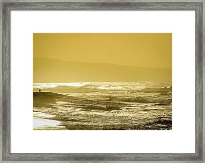 Sunset Beach Aglow  Framed Print