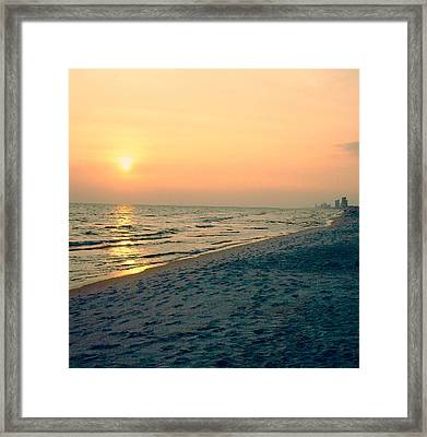 Sunset Beach Framed Print by Arlene Price