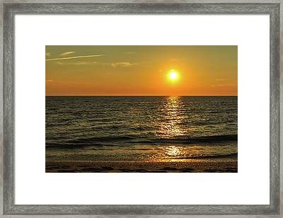 Sunset Beach Cape May Point New Jersey  Framed Print
