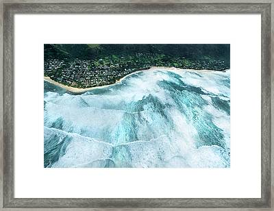 Sunset Beach - Condition Black Framed Print