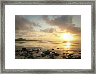 Sunset Beach Delight Framed Print