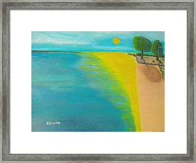 Sunset Beach Framed Print by Edwin Long