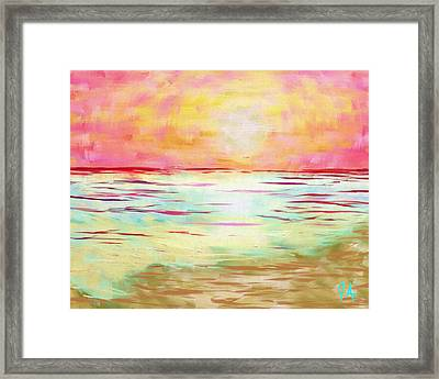 Sunset Beach Framed Print by Jeremy Aiyadurai
