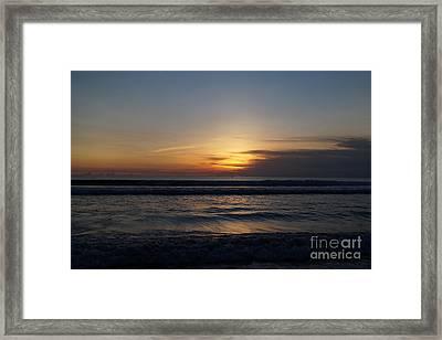 Sunset Beach Photo Framed Print by Timea Mazug
