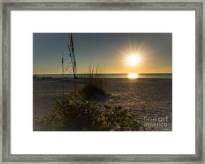 Sunset Beach Framed Print
