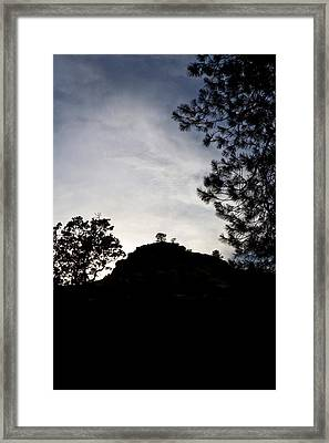 Sunset Behind The Hill Framed Print by Charlie Osborn