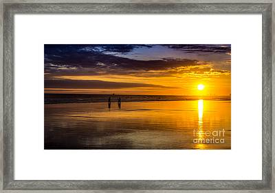 Sunset Bike Ride Framed Print
