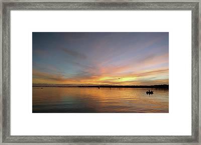 Sunset Blaze Framed Print by Steve Sperry