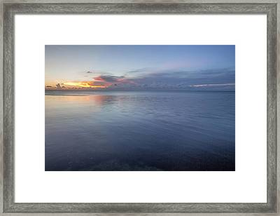 Sunset Bleu Framed Print by Al Hurley