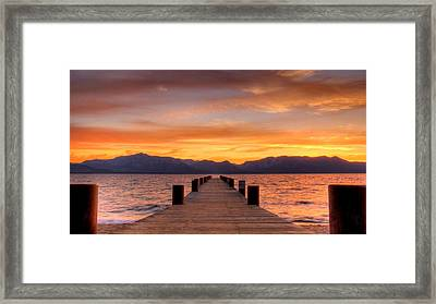 Sunset Bliss Framed Print