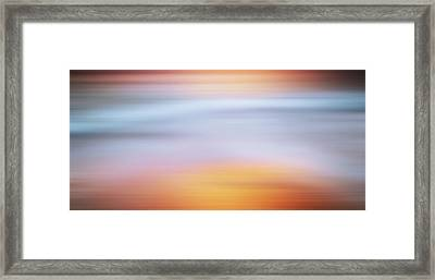 Sunset Bliss Contemporary Abstract Framed Print
