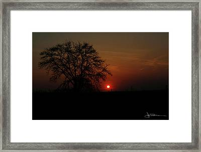 Sunset Bloody Sunset Framed Print