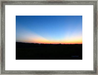 Framed Print featuring the digital art Sunset Blue by Jana Russon