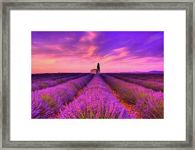 Sunset Blues Framed Print