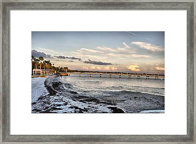 Sunset Blues Framed Print by Rose  Hill