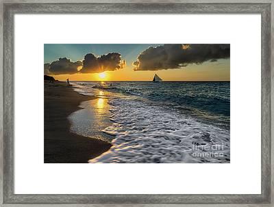 Sunset Boracay Framed Print by Adrian Evans