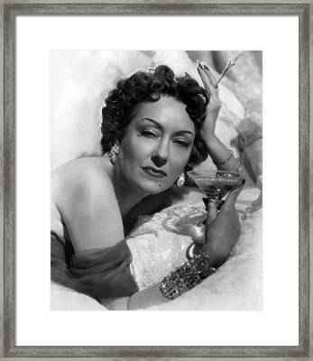 Sunset Boulevard, Gloria Swanson, 1950 Framed Print