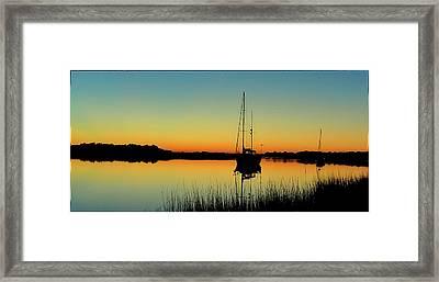 Sunset Bowens Island Framed Print