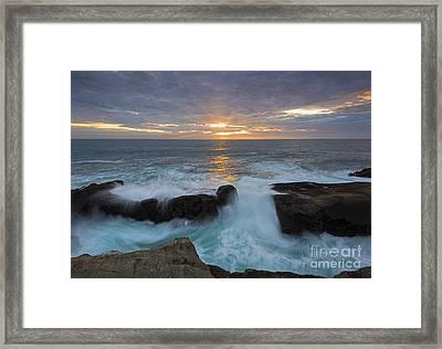Sunset Breach Framed Print