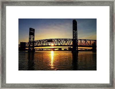 Sunset Bridge 1 Framed Print