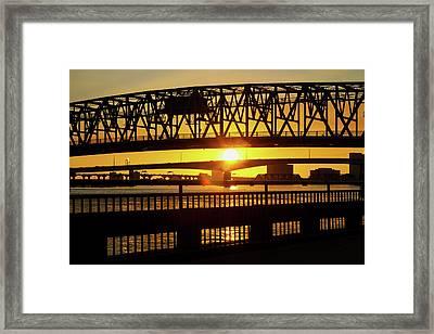 Sunset Bridge 3 Framed Print