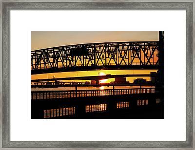 Sunset Bridge 4 Framed Print