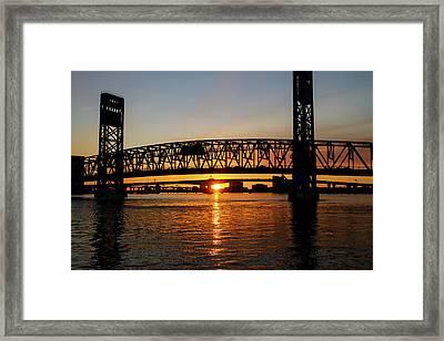 Sunset Bridge 5 Framed Print