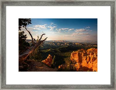 Framed Print featuring the photograph Sunset Bryce by Rebecca Hiatt