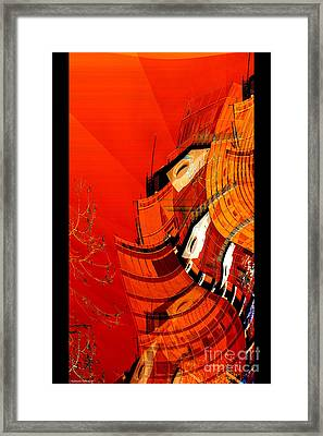Sunset Building Framed Print