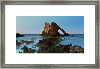 Sunset By Bow Fiddle Rock Framed Print by Maria Gaellman
