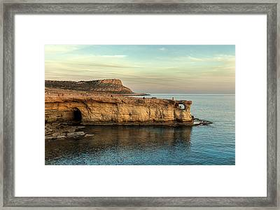 Sunset By The Cape Framed Print