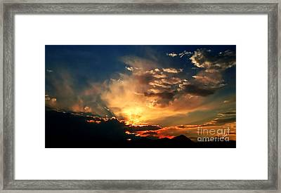 Sunset Of The End Of June Framed Print