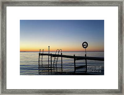 Sunset By The Old Bath Pier Framed Print