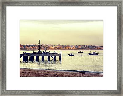 Framed Print featuring the photograph Sunset By The Sea by Marion McCristall