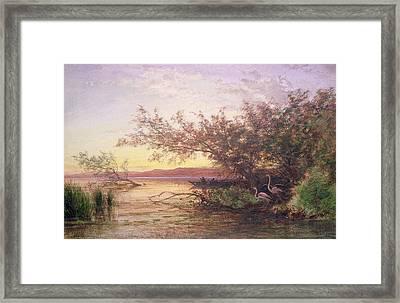 Sunset, Camargue Framed Print by Felix Ziem