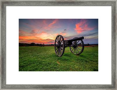 Sunset Canon Framed Print