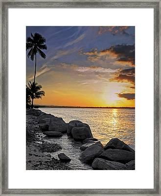 Sunset Caribe Framed Print